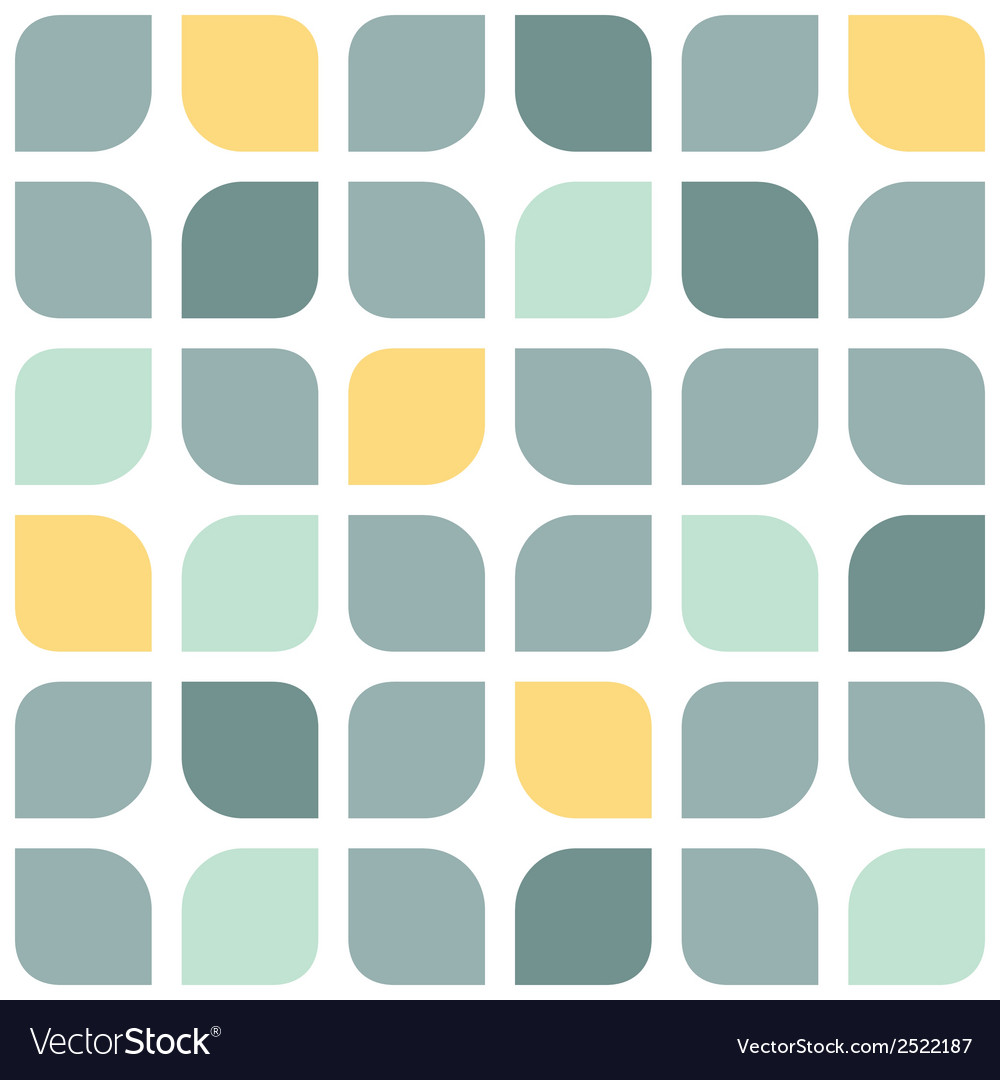 Abstract gray yellow rounded squares seamless vector | Price: 1 Credit (USD $1)