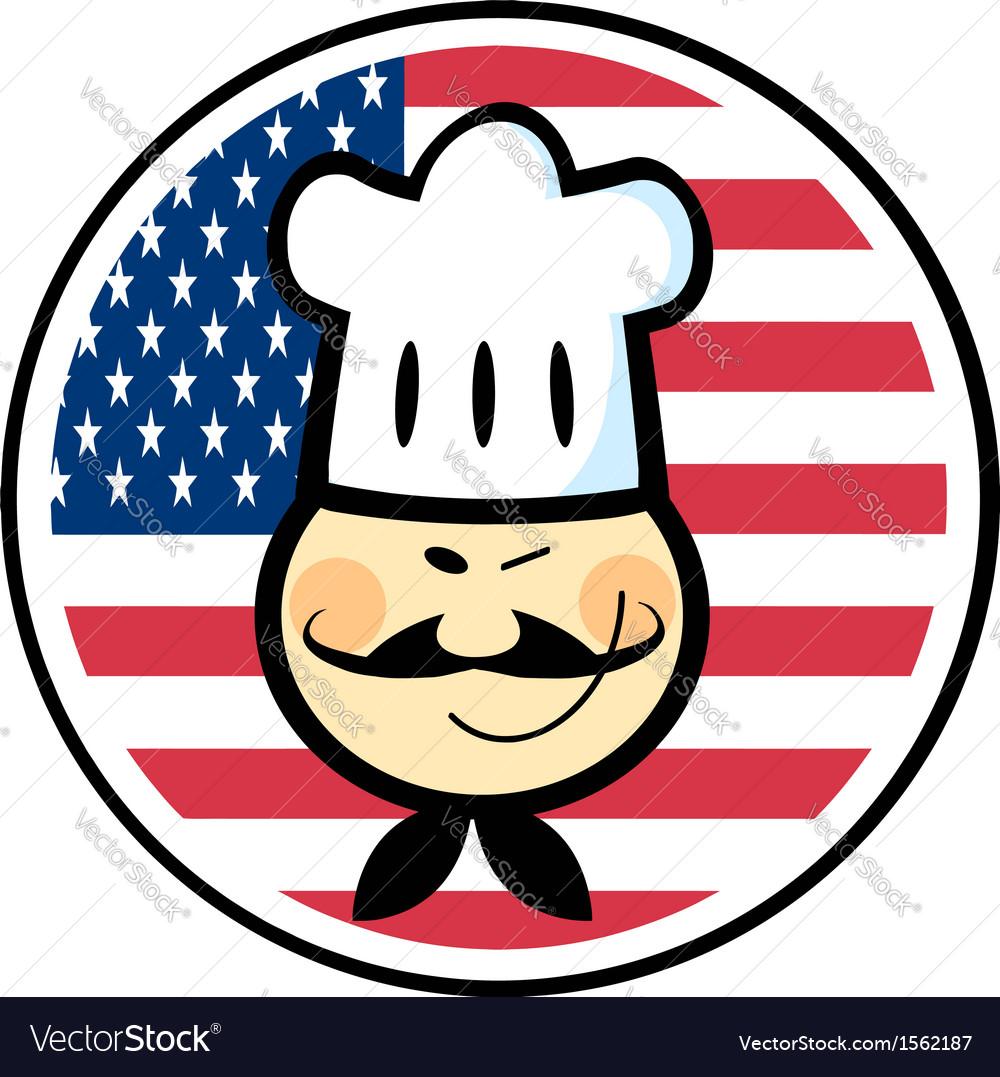 Cartoon chef logo vector | Price: 1 Credit (USD $1)
