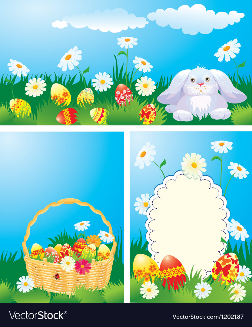 Easter cards set 380 vector   Price: 3 Credit (USD $3)