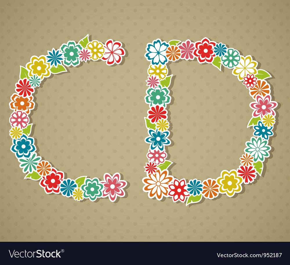 Floral alphabet vector   Price: 1 Credit (USD $1)