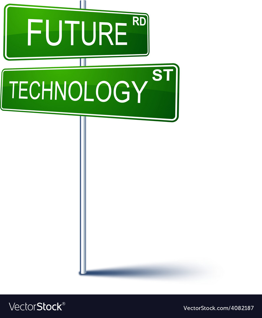 Future-technology direction sign vector | Price: 1 Credit (USD $1)