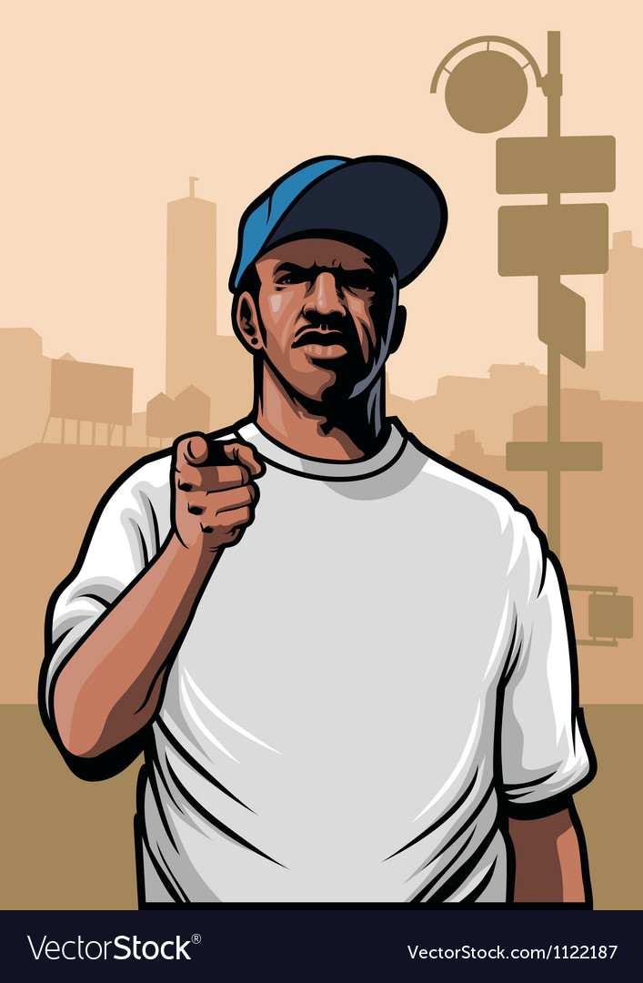 Gangster pointing hand vector | Price: 3 Credit (USD $3)