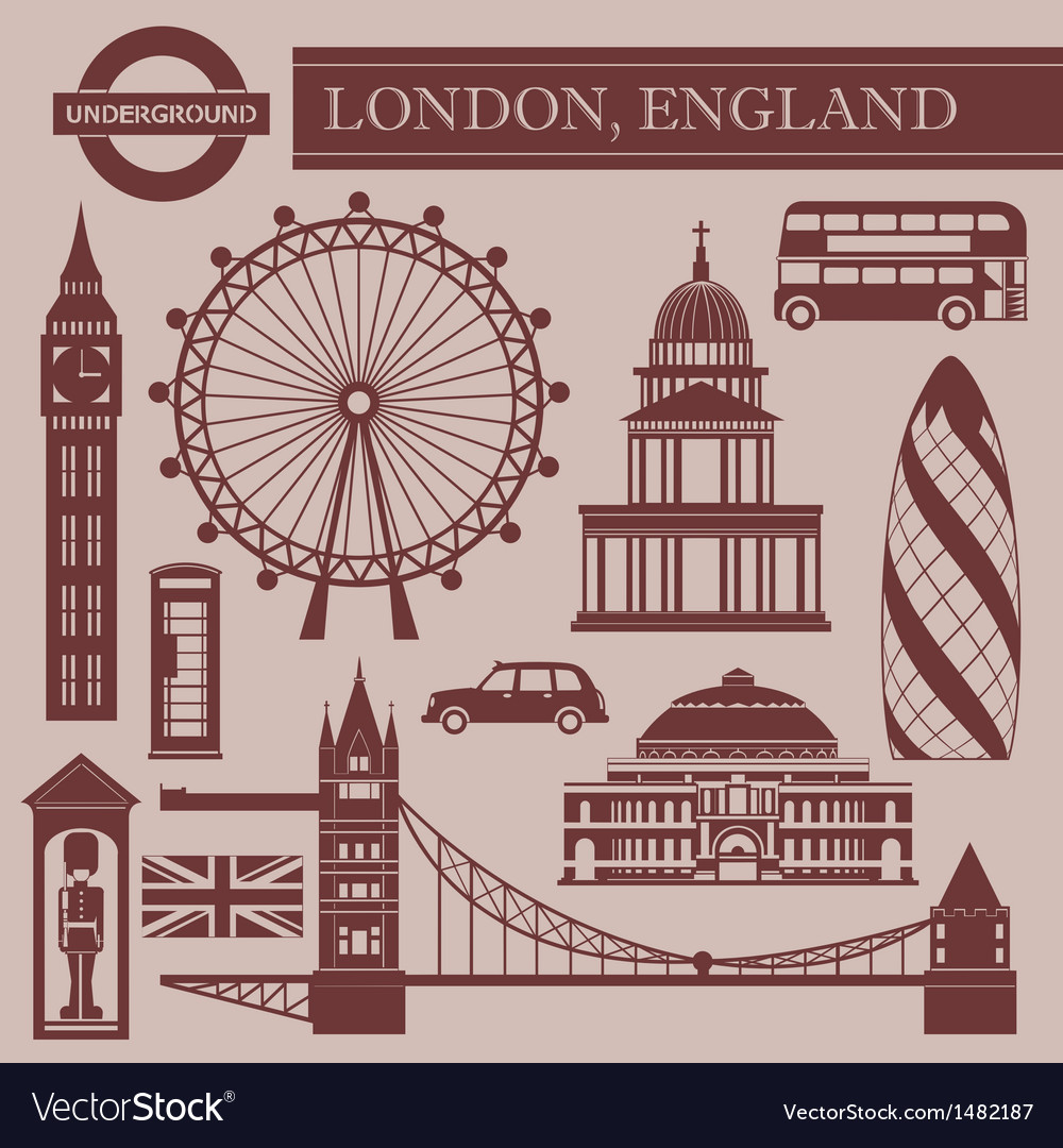 Landmark of london vector | Price: 1 Credit (USD $1)