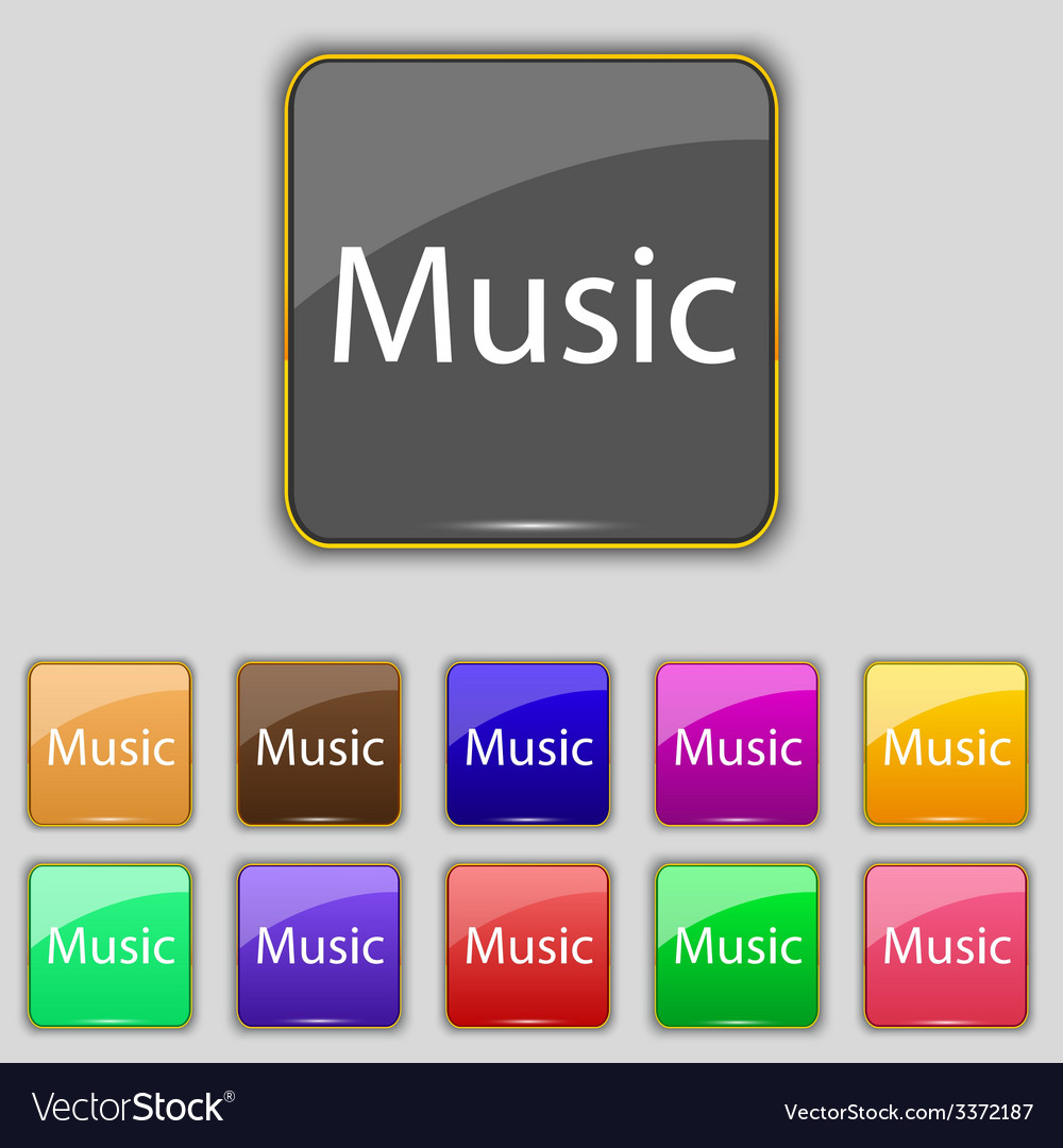Music sign icon karaoke symbol set of colored vector | Price: 1 Credit (USD $1)