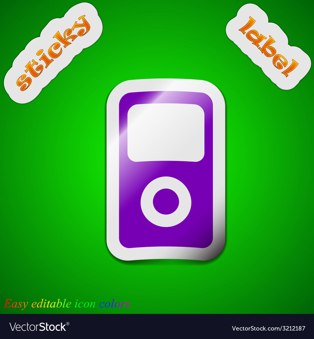 Portable musical player icon sign symbol chic vector | Price: 1 Credit (USD $1)