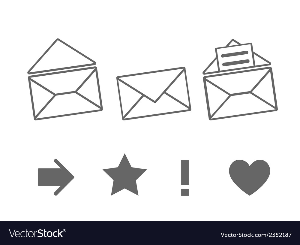Set of icons for messages vector | Price: 1 Credit (USD $1)