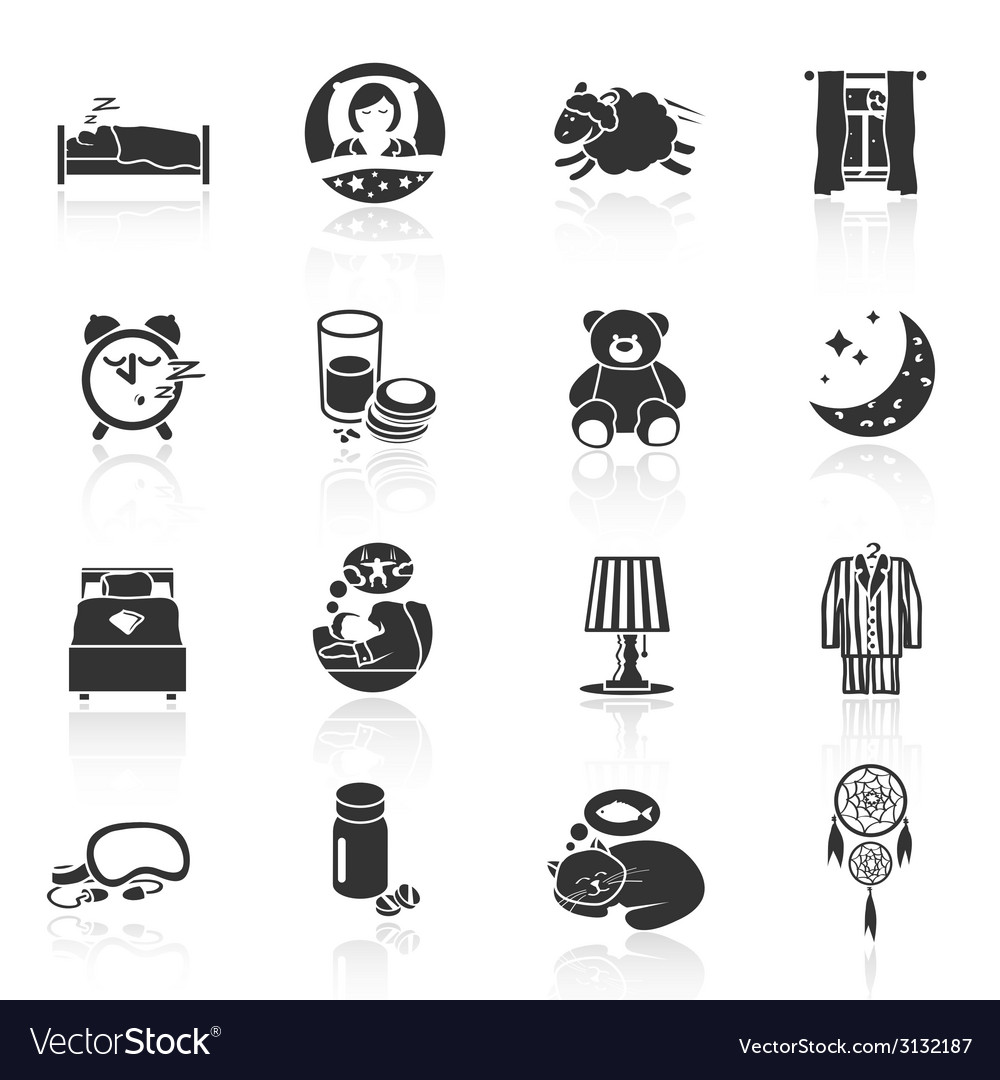 Sleep time icons vector | Price: 1 Credit (USD $1)
