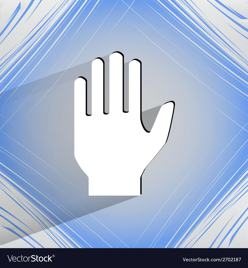 Stop hand flat modern web design on a flat vector | Price: 1 Credit (USD $1)