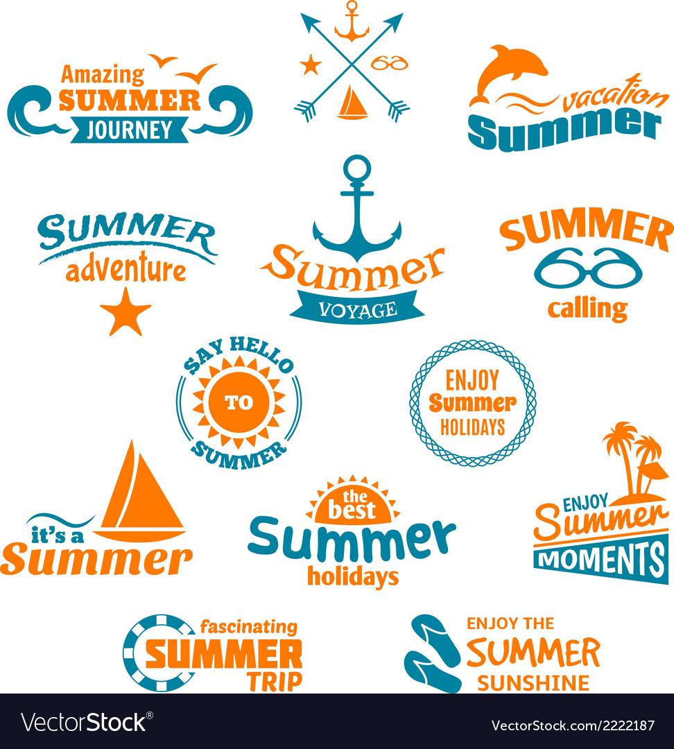 Summer element label vector | Price: 1 Credit (USD $1)