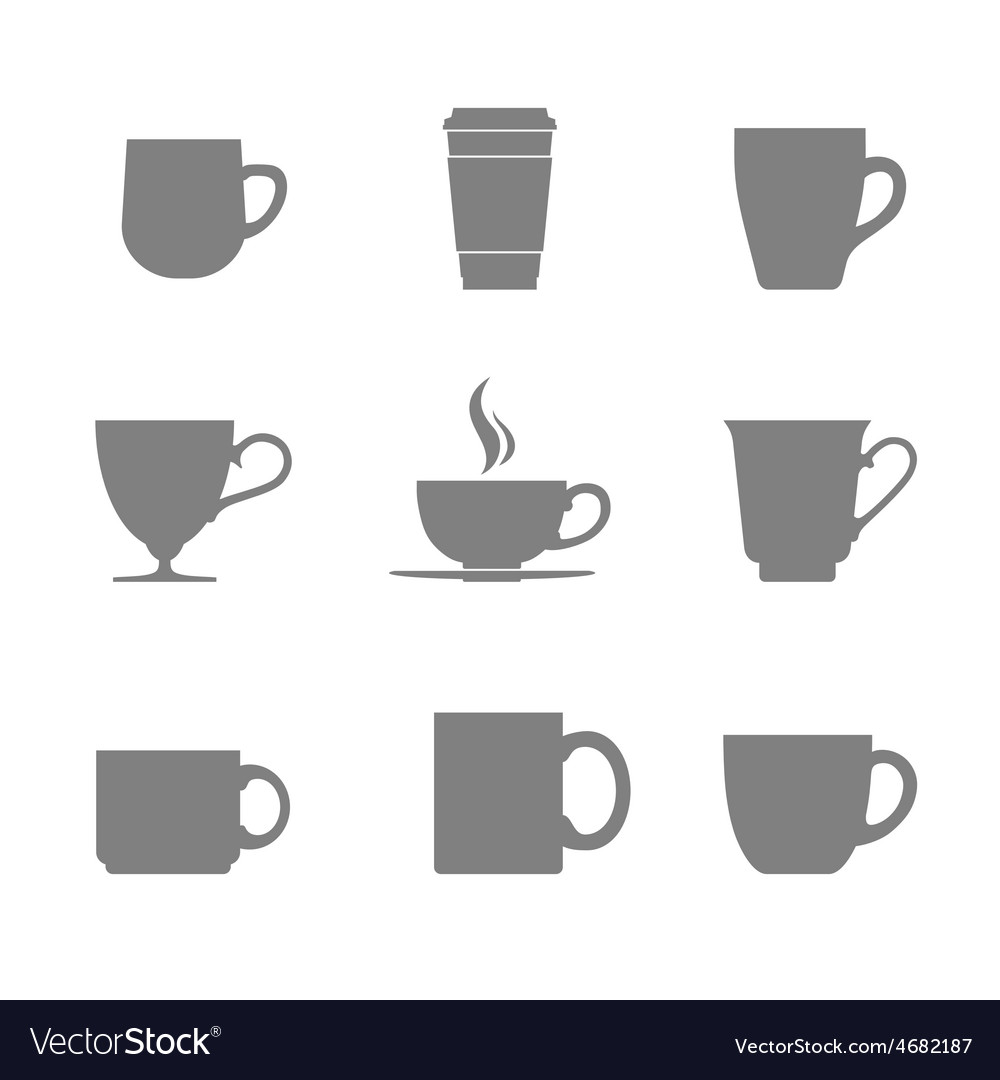 Tea cup icon set vector | Price: 1 Credit (USD $1)