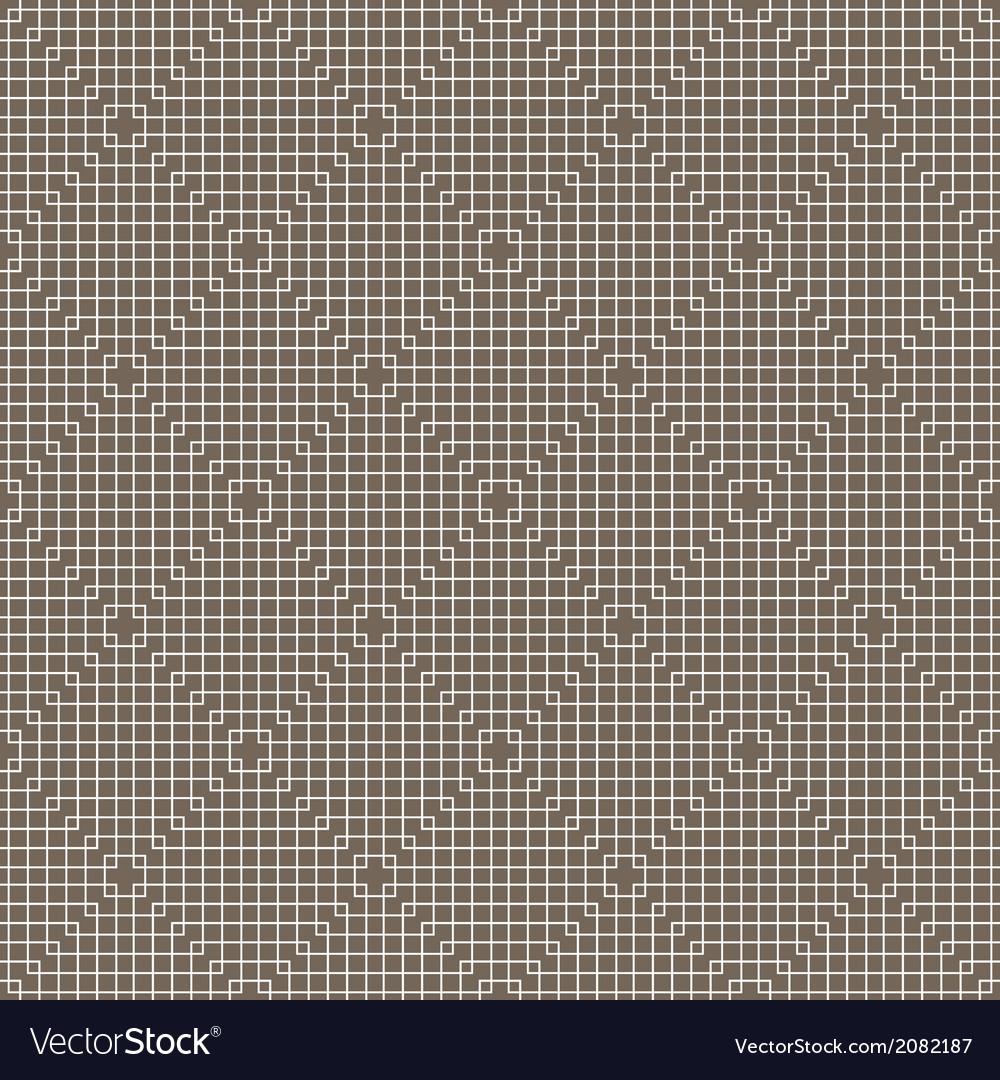 White line squares seamless pattern on dark vector | Price: 1 Credit (USD $1)