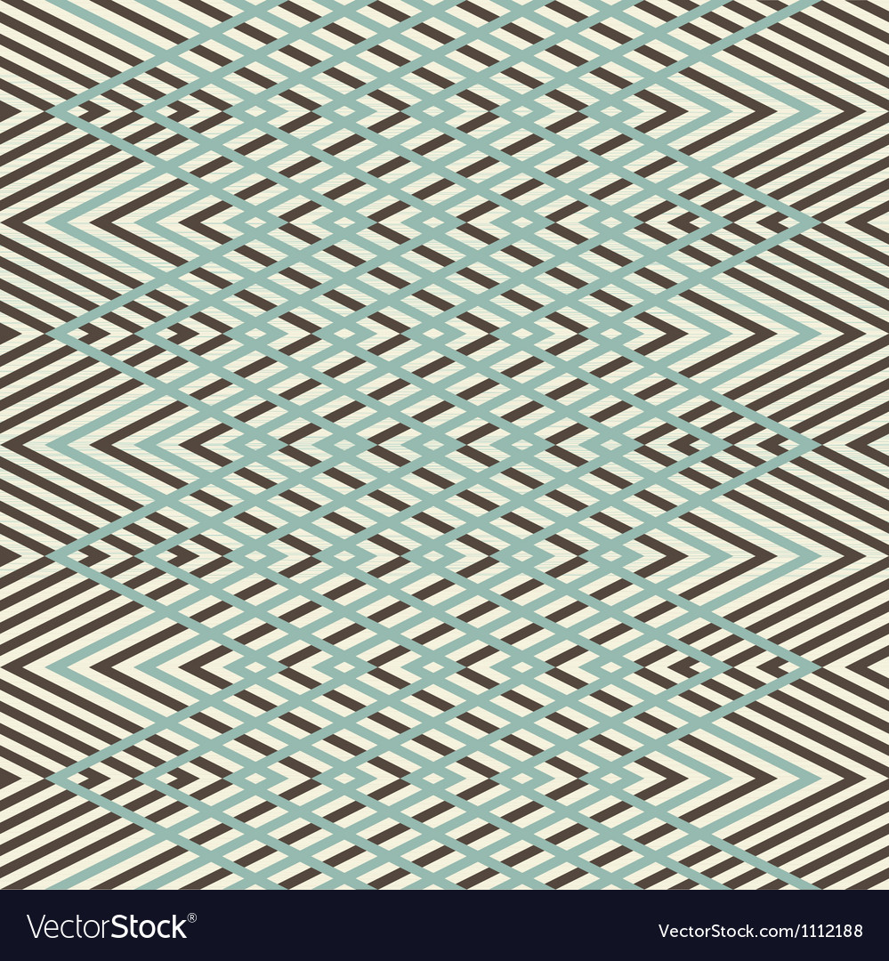 Abstract seamless retro geometric pattern vector | Price: 1 Credit (USD $1)