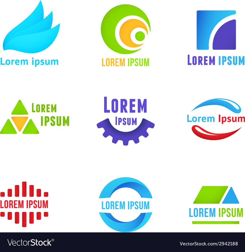 Business icons templates vector | Price: 1 Credit (USD $1)