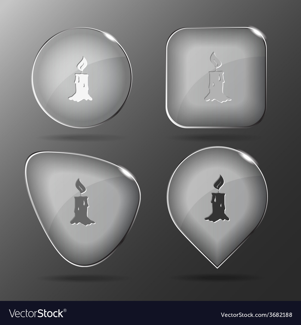 Candle glass buttons vector | Price: 1 Credit (USD $1)