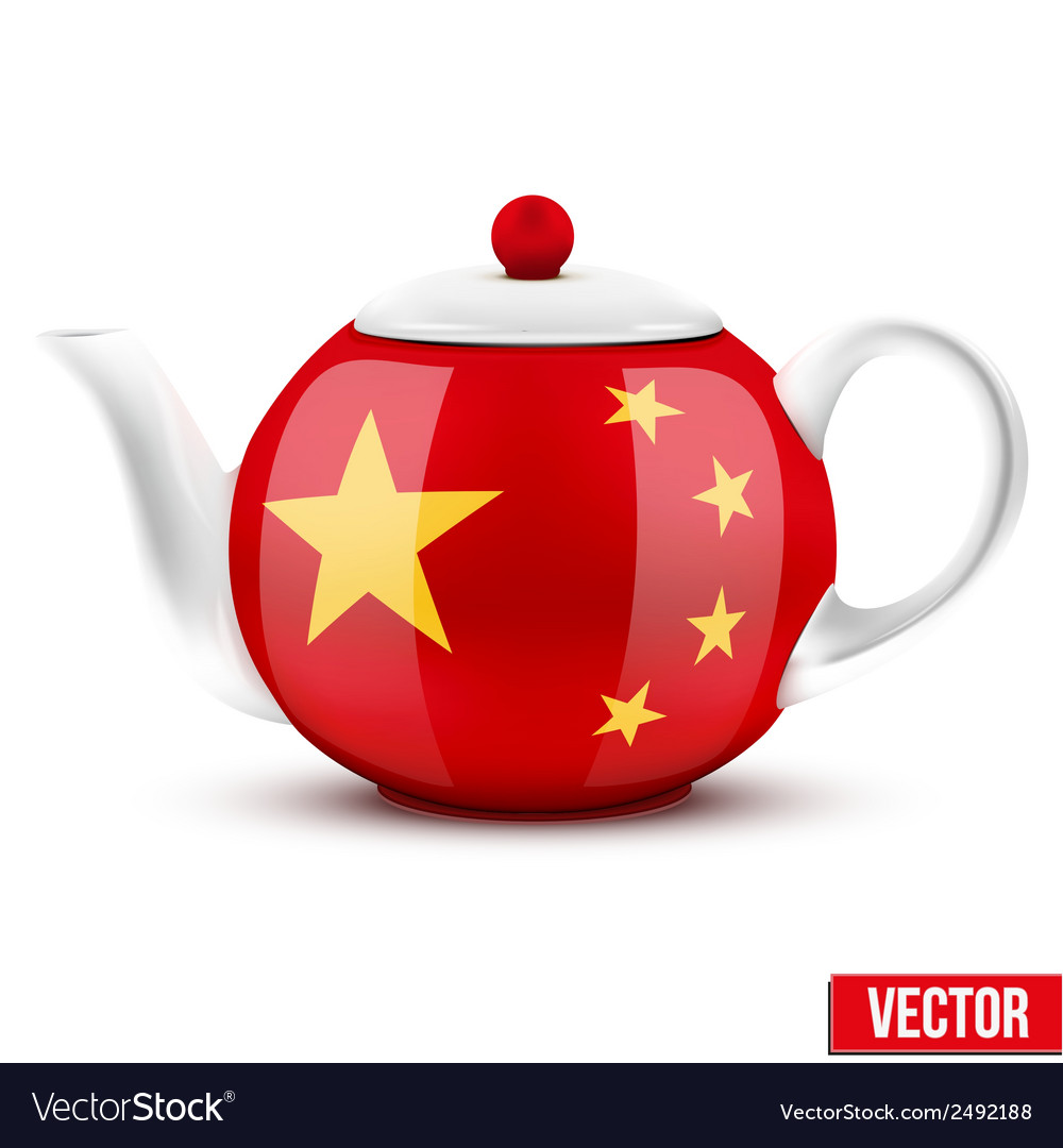 Chinese ceramic teapot vector | Price: 1 Credit (USD $1)