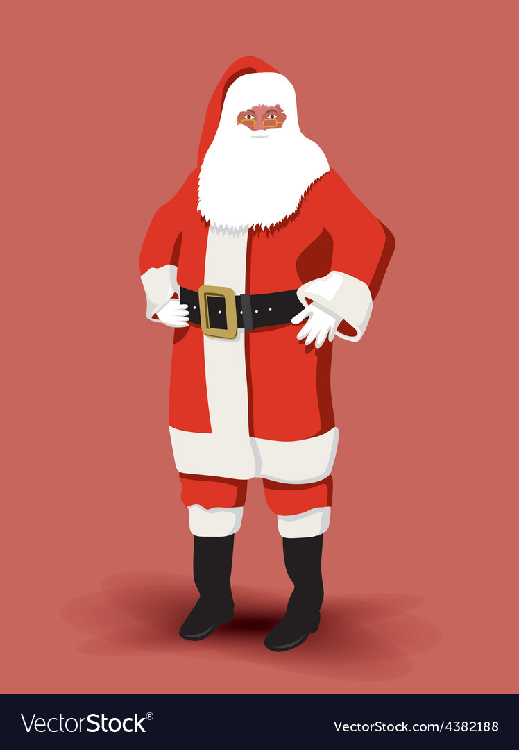 Father christmas vector | Price: 1 Credit (USD $1)