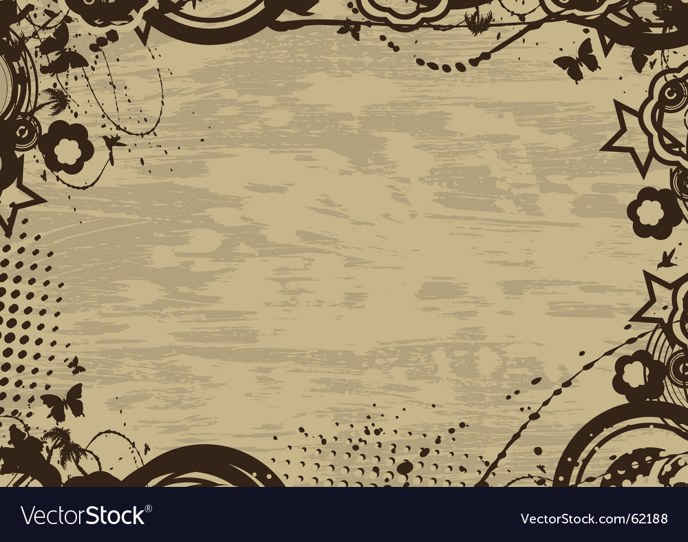 Grunge vintage frame vector | Price: 1 Credit (USD $1)