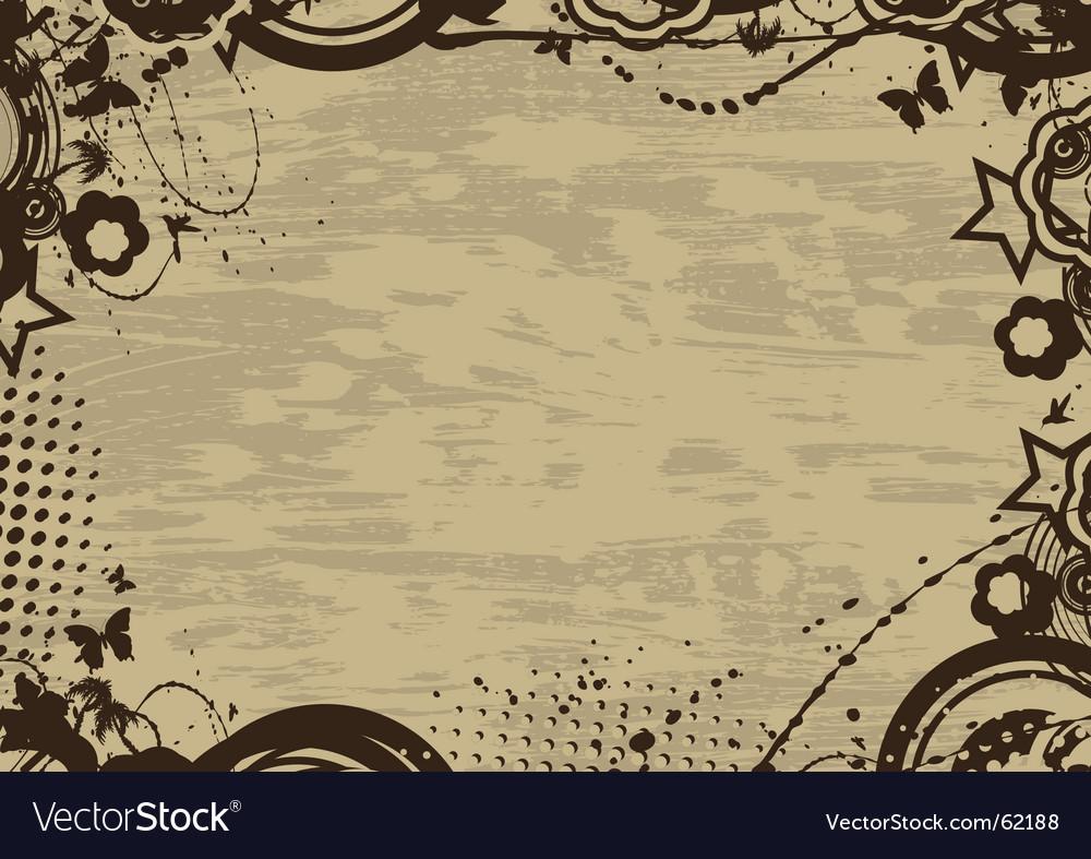 Grunge vintage frame vector   Price: 1 Credit (USD $1)