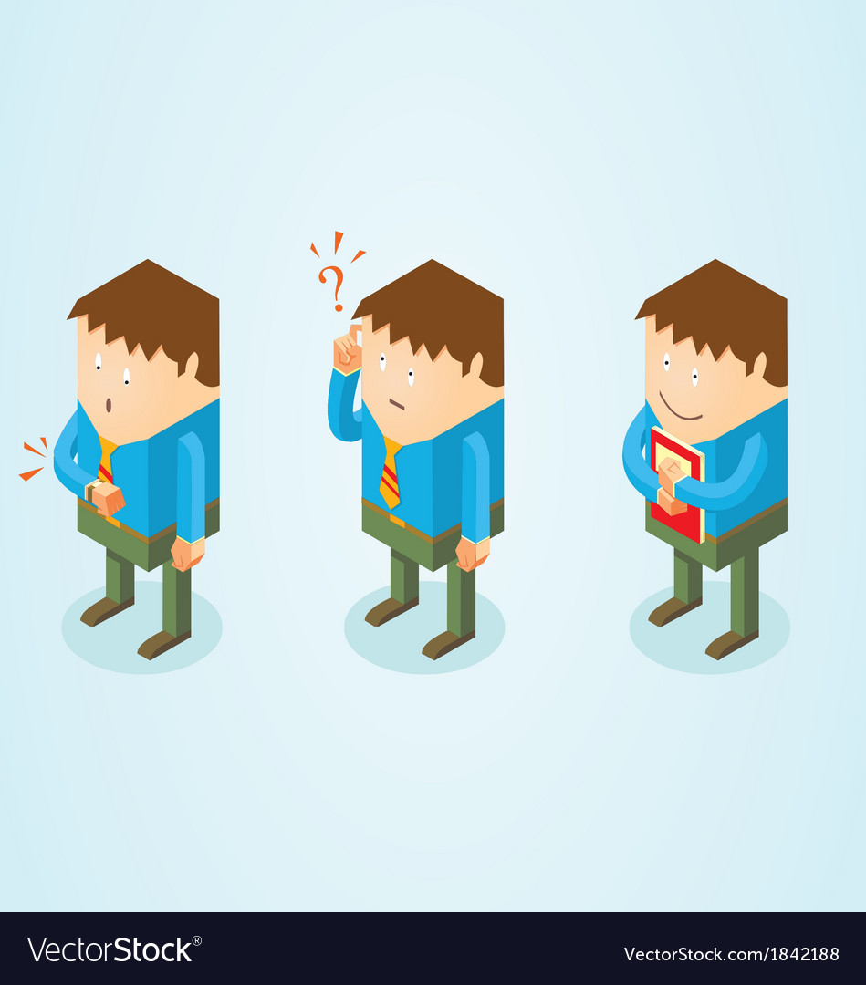 Isometric white collar worker vector | Price: 1 Credit (USD $1)