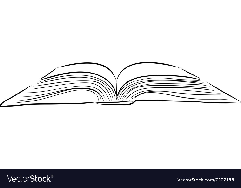 Open book hand draw vector | Price: 1 Credit (USD $1)