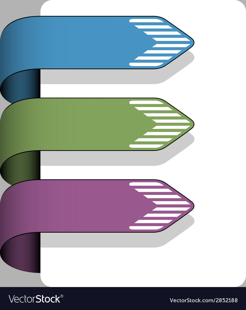 Striped arrow ribbon signs vector   Price: 1 Credit (USD $1)