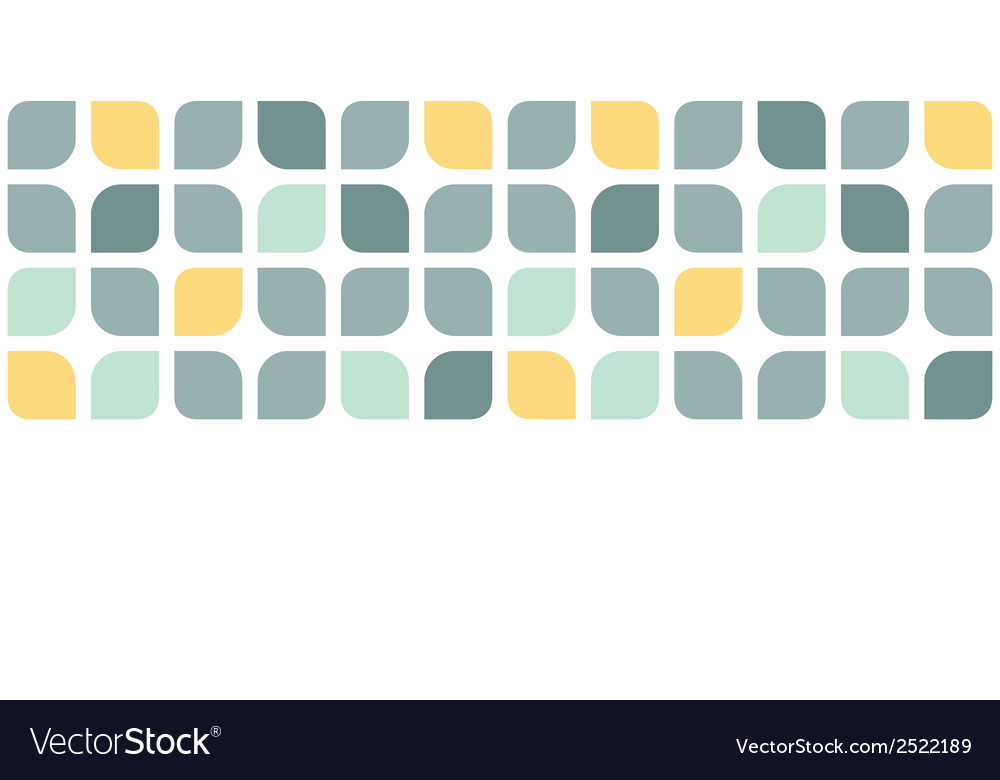 Abstract gray yellow rounded squares horizontal vector | Price: 1 Credit (USD $1)