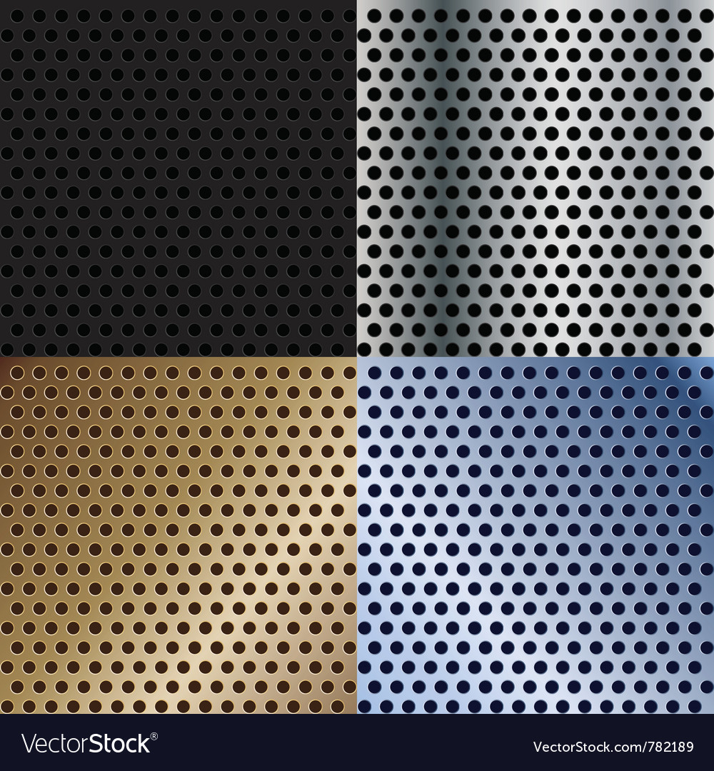 Abstract metallic textures set vector | Price: 1 Credit (USD $1)