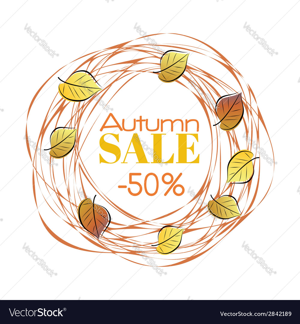 Autumn sale frame vector | Price: 1 Credit (USD $1)