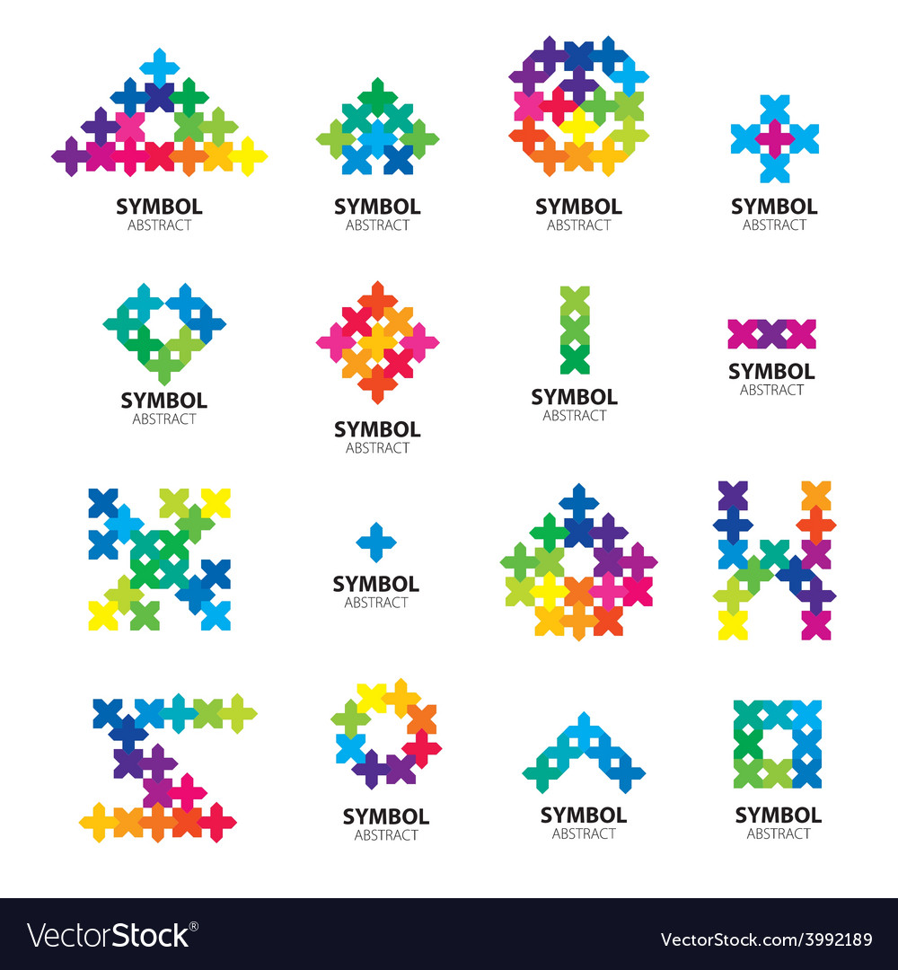 Big collection of logos of abstract modules vector | Price: 1 Credit (USD $1)