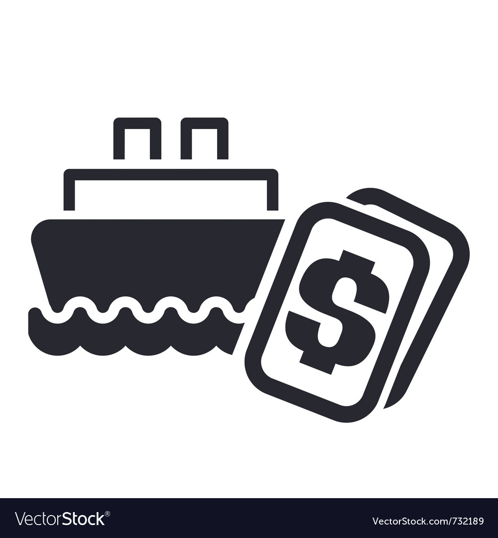 Boat cost icon vector | Price: 1 Credit (USD $1)