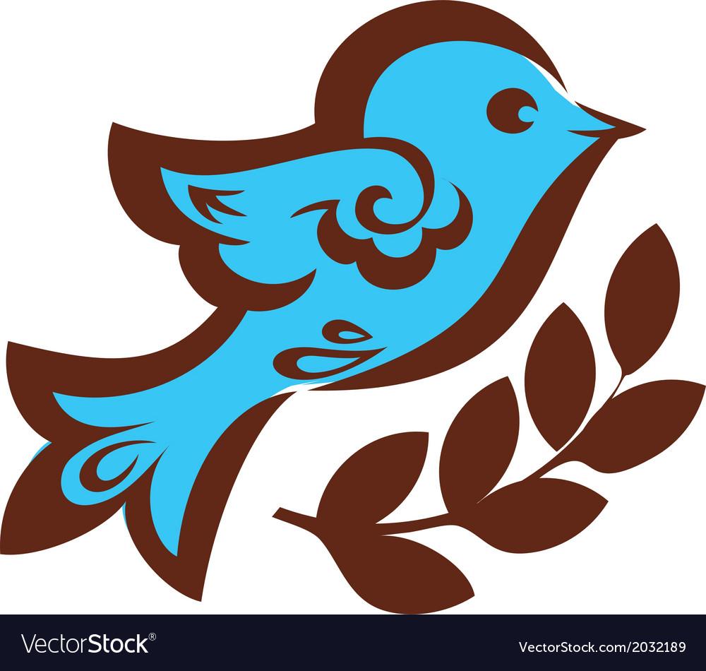 Decorative bird with wheat vector | Price: 1 Credit (USD $1)