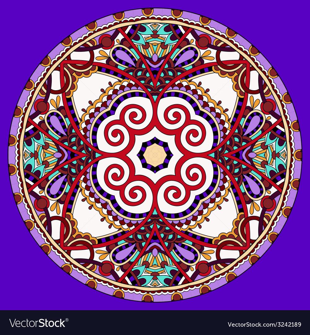 Decorative violet colour design of circle vector   Price: 1 Credit (USD $1)