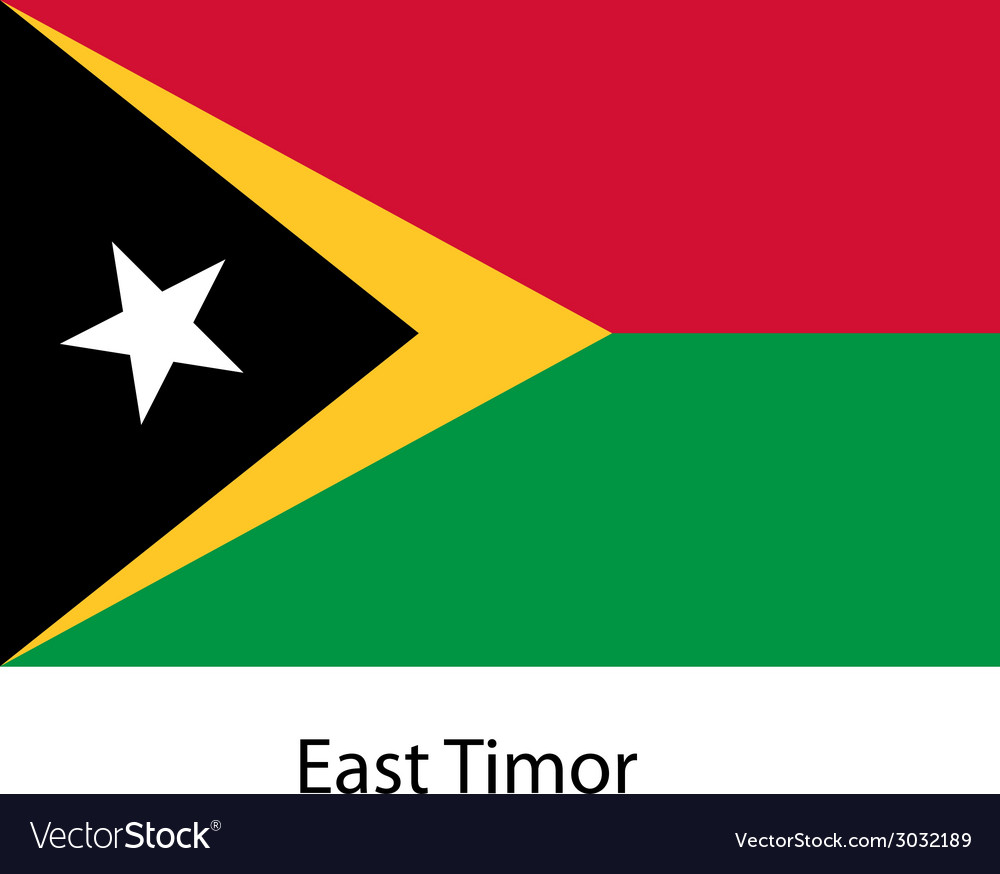 Flag of the country east timor vector | Price: 1 Credit (USD $1)