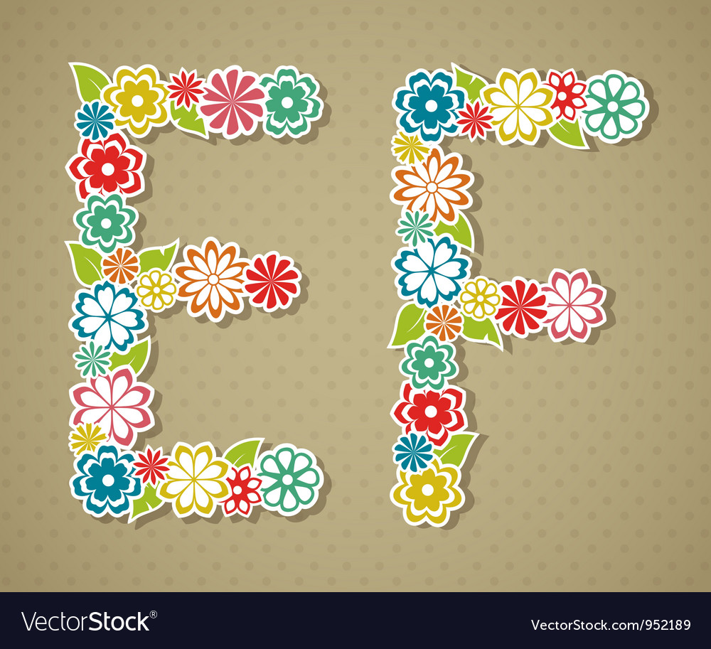 Floral alphabet vector | Price: 1 Credit (USD $1)