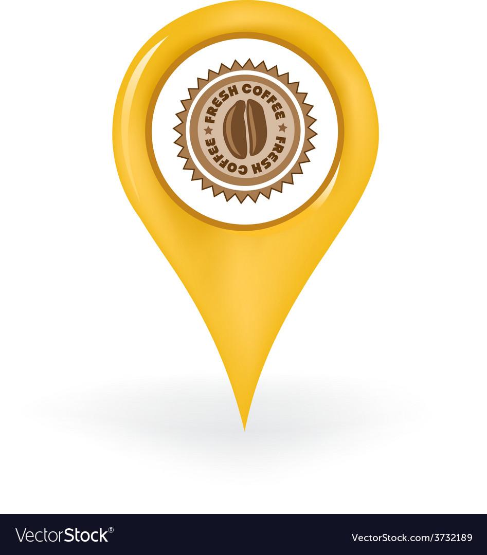 Fresh coffee location vector | Price: 1 Credit (USD $1)