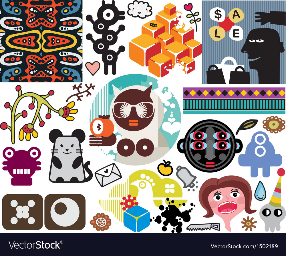 Mix of different images vol51 vector | Price: 3 Credit (USD $3)