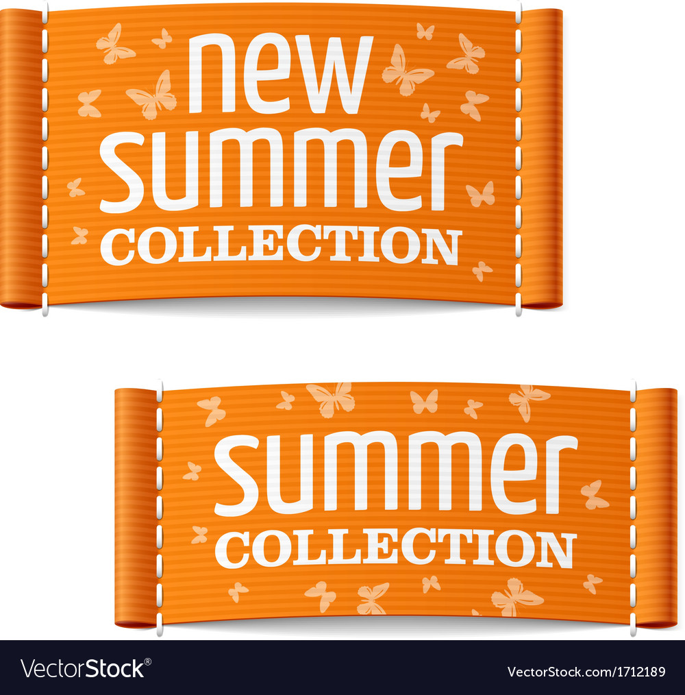 New summer collection clothing labels vector | Price: 1 Credit (USD $1)