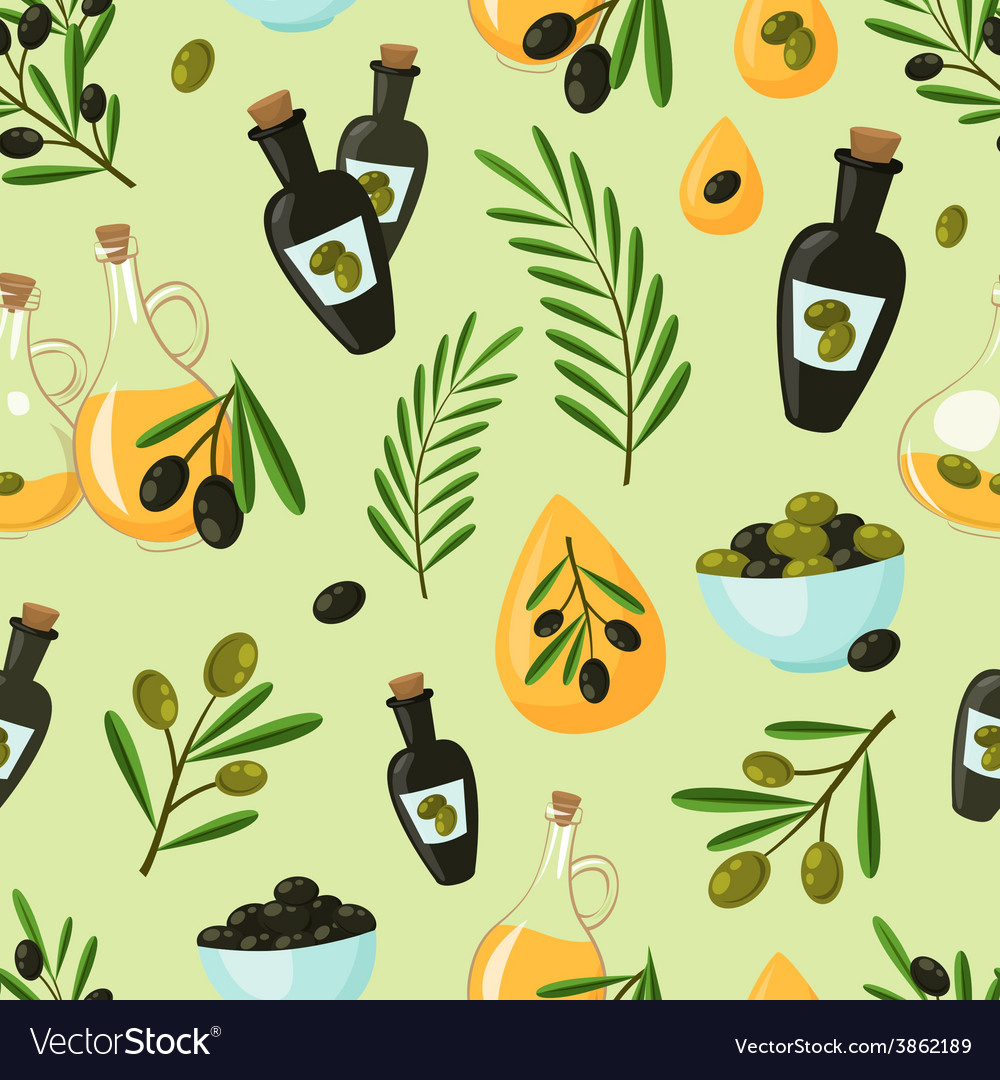 Olive seamless pattern vector   Price: 1 Credit (USD $1)