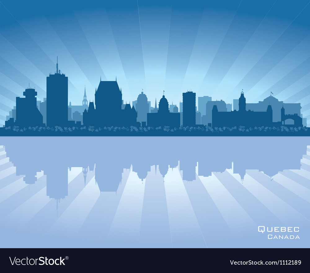Quebec canada skyline vector | Price: 1 Credit (USD $1)