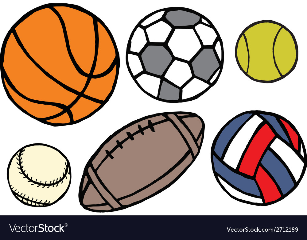 Set of different sport balls vector | Price: 1 Credit (USD $1)