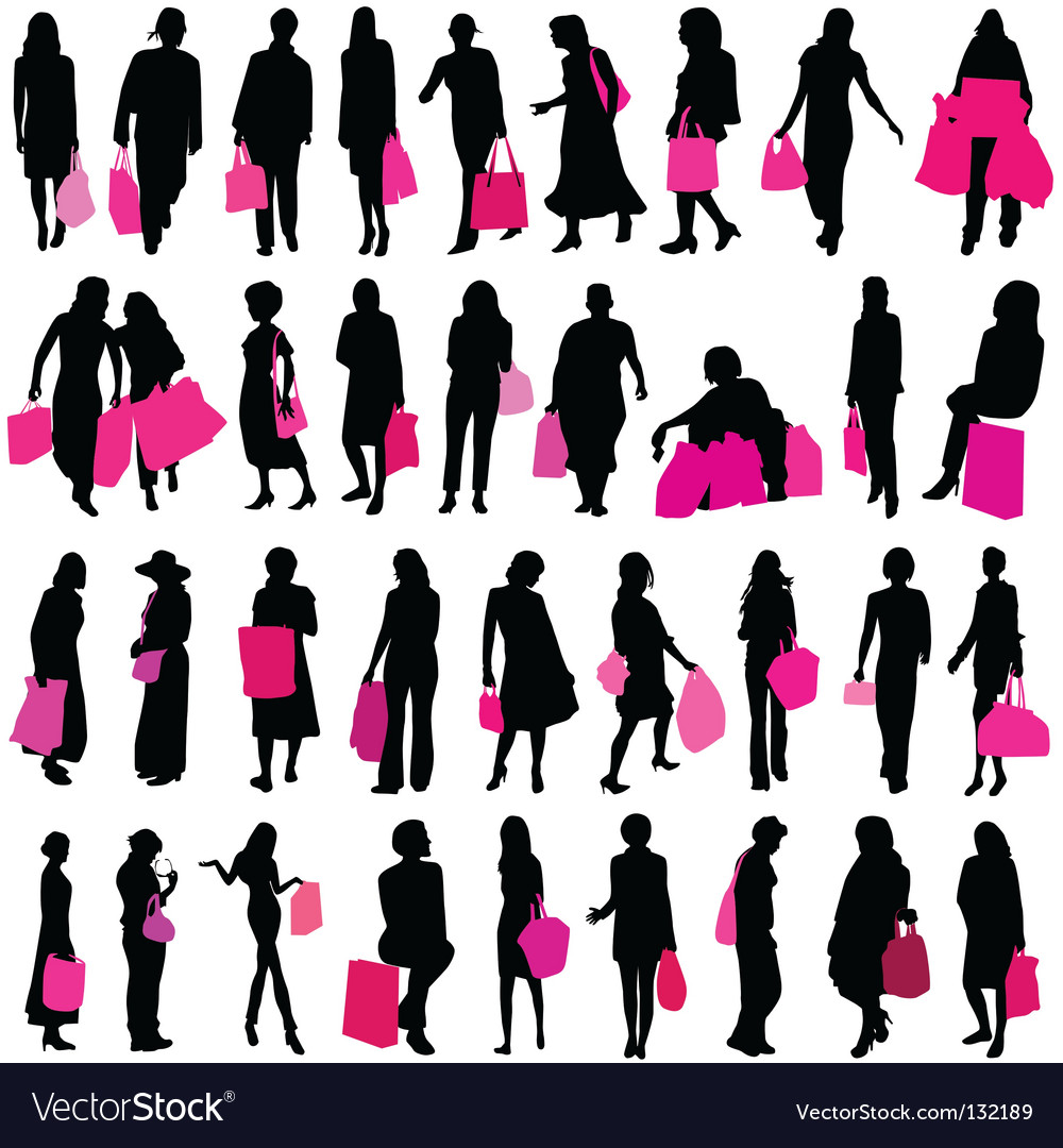 Shopping women vector | Price: 1 Credit (USD $1)