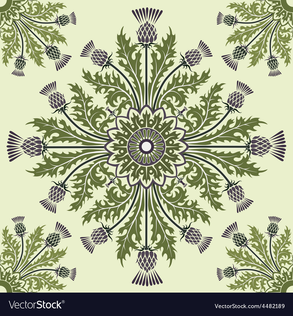 Thistle background vector | Price: 1 Credit (USD $1)