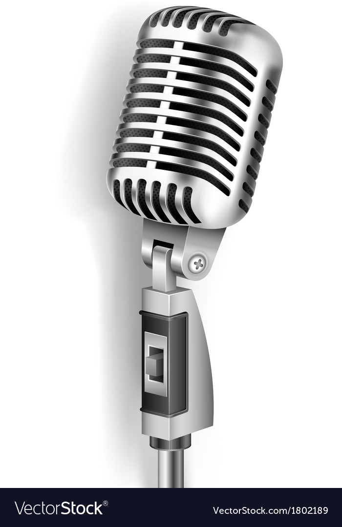 Vintage microphone vector | Price: 1 Credit (USD $1)