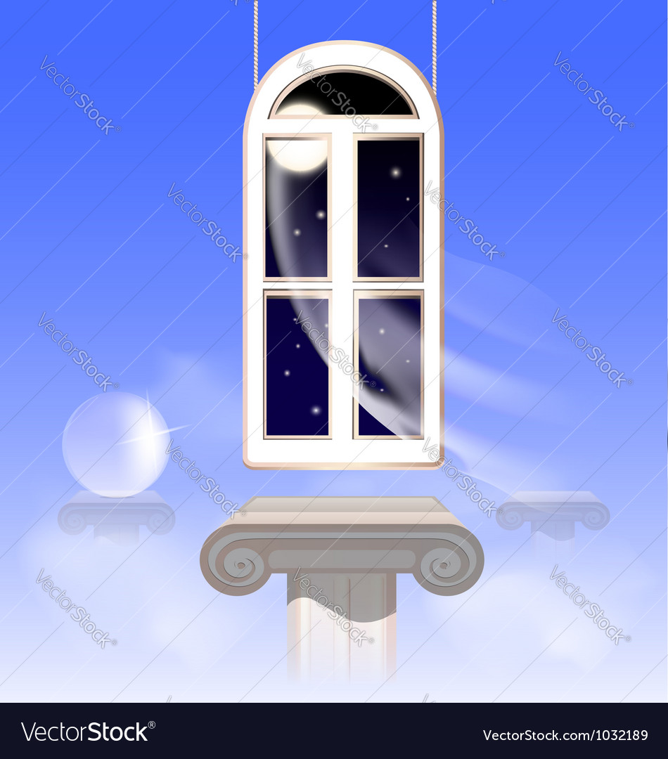 Window in the nightly sky vector | Price: 1 Credit (USD $1)