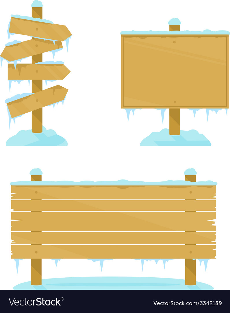 Winter wooden boards vector | Price: 1 Credit (USD $1)