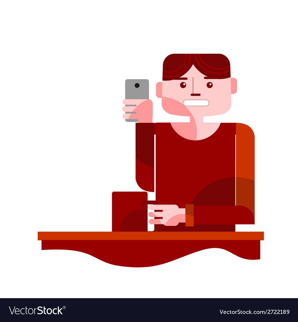 Young man taking selfie vector | Price: 1 Credit (USD $1)
