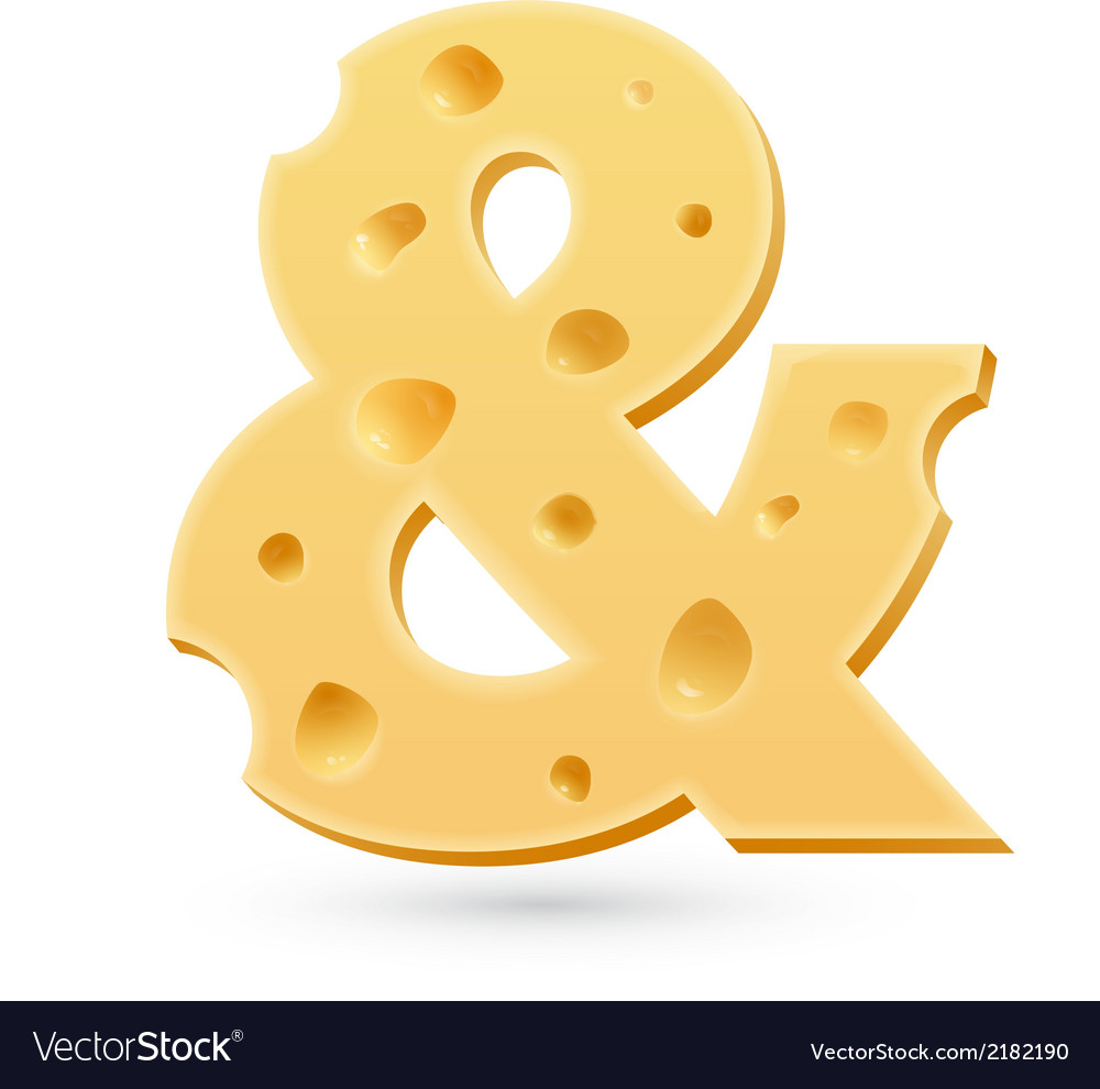Ampersant or and cheese letter symbol isolated on vector | Price: 1 Credit (USD $1)