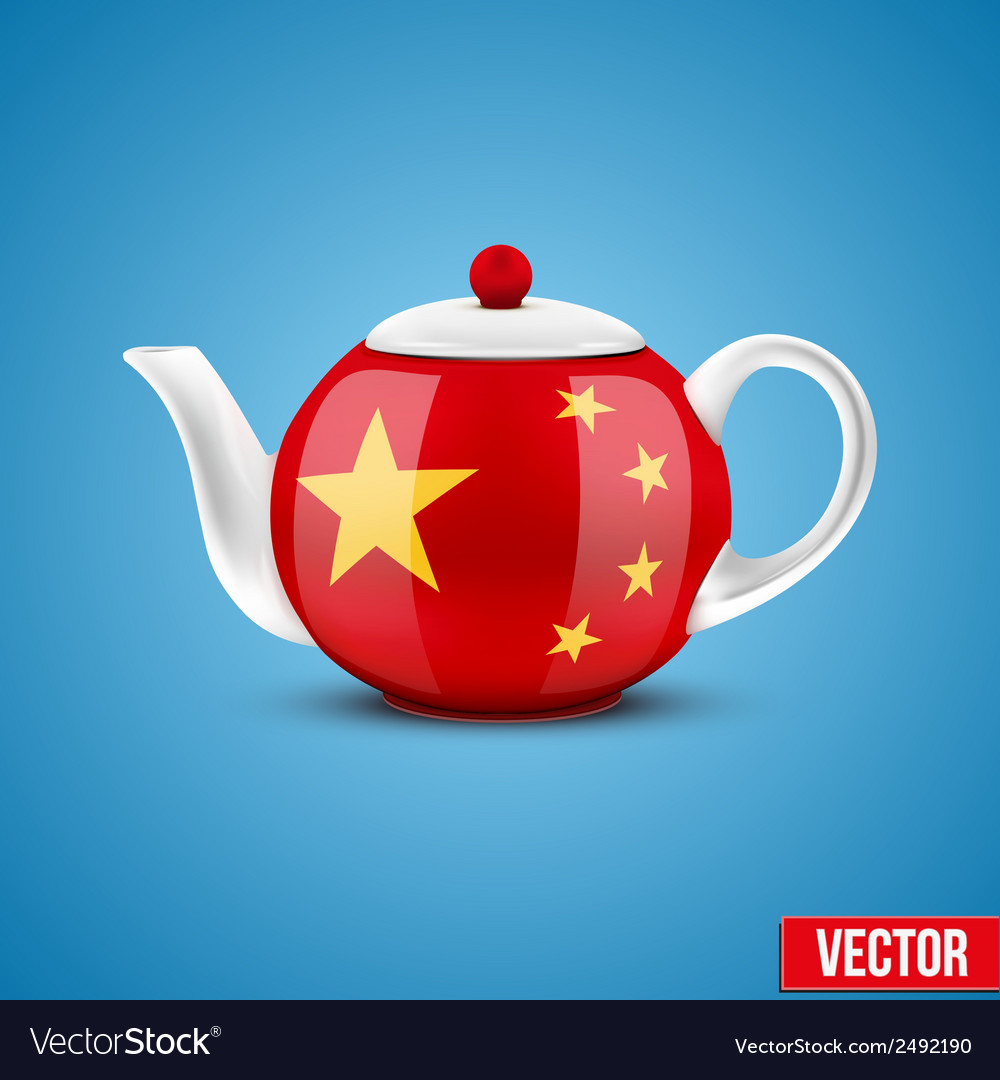 Background of chinese ceramic teapot vector | Price: 1 Credit (USD $1)