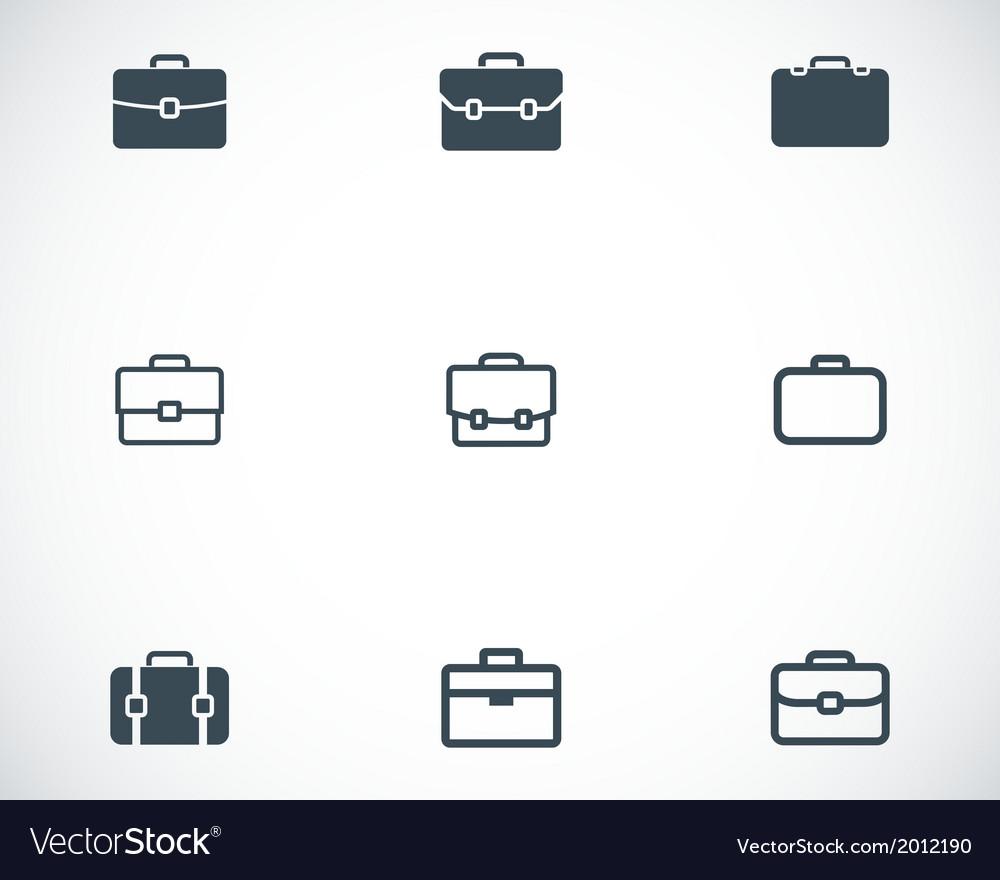 Black briefcase icons set vector   Price: 1 Credit (USD $1)