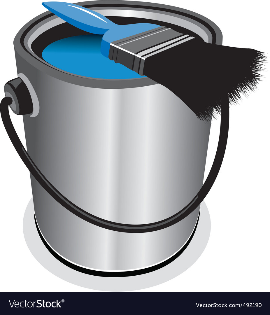Blue paint vector | Price: 3 Credit (USD $3)